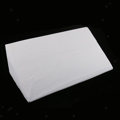 Bed Wedge Pillow Foam Back Cushion Bolster for Sleep with Removable Cover White
