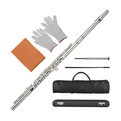 Muslady 17-Hole Concert C Flute Open/ Closed Pore Cupronickel Material F7Q2