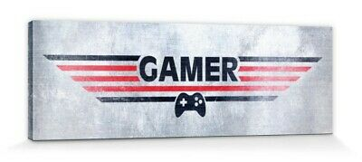 Gaming - Gamer Poster Mounted Canvas Print (35x12in) #92570