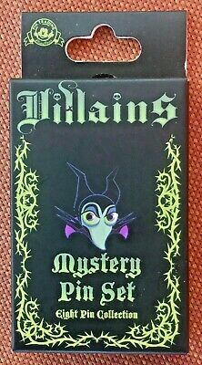 DISNEY Parks Exclusive 2 Pack Mystery Pin Set Villains Maleficent & more - NIB