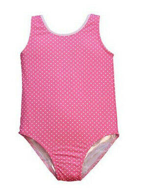 Little Girls Pink Pin Dot Print Jacen Stylish One Piece Bathing Suit 2T-6X
