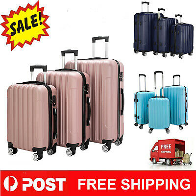 Luggage Set Travel Bag Trolley Spinner Carry On Suitcase With TSA Lock 10 Color