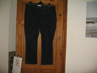 Marks And Spencer Dark Indigo Ladies Jeans Size 18 Short  All Elasticated