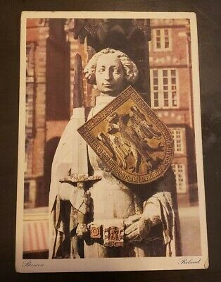 Bremen Poland Shield Sword Coat of Arms Postcard Vintage Unposted