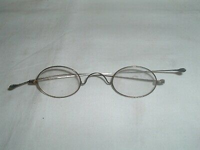 Antique 19th Century mid 1800s Eyeglasses Spectacles Oval Steel Frames
