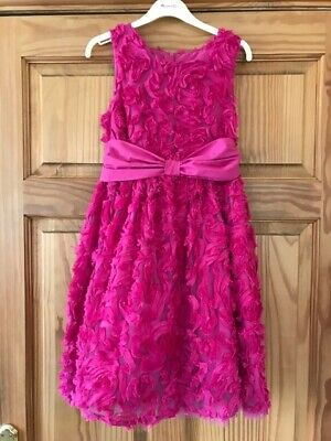 STUNNING TED BAKER Bridesmaid Prom Party Dress Age 12 yrs CERISE Tulle & Lace