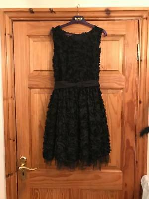 Brand New STUNNING TED BAKER Dress Age 15 16 yrs Black Tulle & Lace