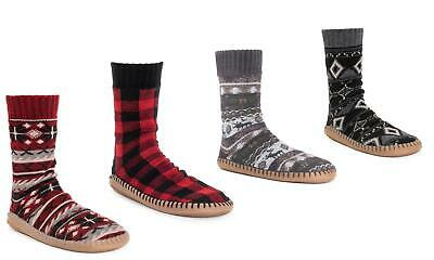New Muk Luks Mens Slipper Sox or Heat Retainers Thermal Socks Sizes ++ Styles