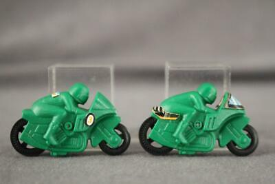Food Advertising KINDER Surprise Toy Lot 2 Green Plastic Motorcycles No 1 Green
