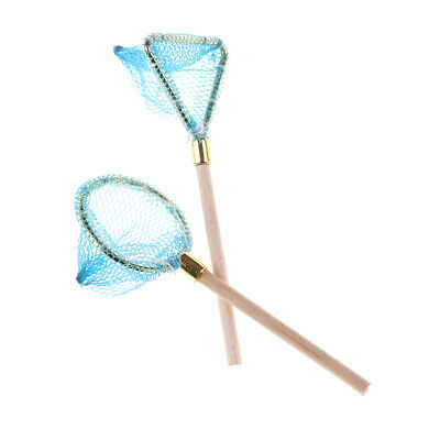 Dollhouse Miniature Wood Fishing Net Life Scene Decoration Outdoor Sports Toy sk