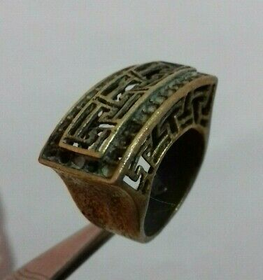 Rare Ancient Extremely Ring Bronze Roman Legionary Old Ring Authentic Artifact
