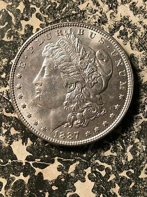 1887 U.S. Morgan $1 Dollar Lot#U308 Silver! High Grade! Beautiful!