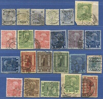 W758 - AUSTRIA Levant Turkey Crete, Group of Used Stamps, good cancels