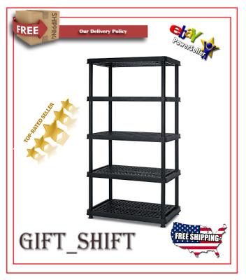 Tidy Living 72x36x14 Metal Storage Shelves 5-Tier Shelving Unit Heavy Duty Shelf