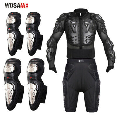 Motorcycle Armor Jacket Chest Hip Protection Shorts Motocross Knee Elbow Guards