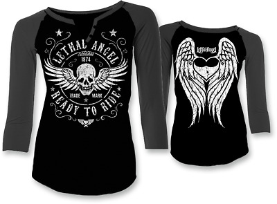 Lethal Threat Women's Ready to Ride Long Sleeve Sm Black