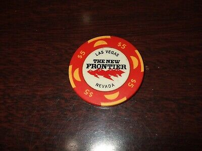 THE NEW FRONTIER HOTEL AND CASINO Las Vegas Nevada NV Obsolete Poker Chip