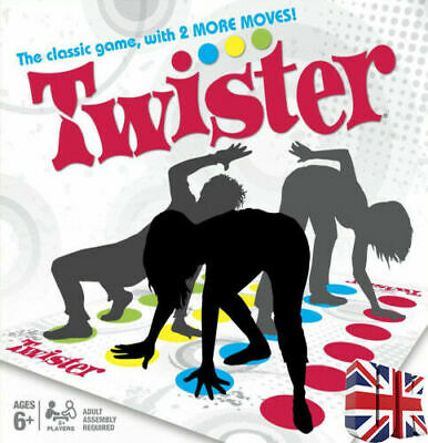 Funny Twister The Classic Game Body With 2 More Moves Family Party Game Gift Kid