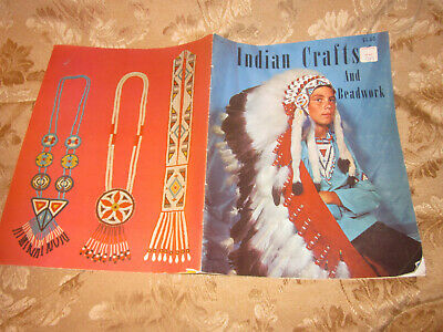 INDIAN Crafts and Beadwork PATTERNS INSTRUCTION BOOK 1964 24 PAGES