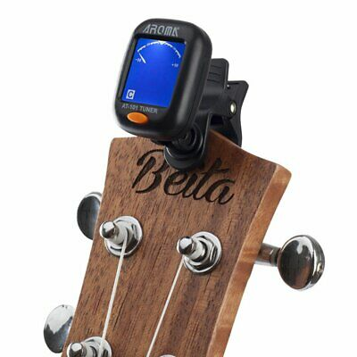 Compact Tiger Guitar Tuner Clip-On LCD Display for Guitar Ukulele Bass AT-101 #1