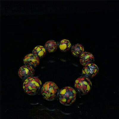 """0.67"""" Exquisite Chinese Colored glaze Cloisonne Handmade Beads Bracelet a512"""