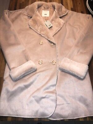 RIVER ISLAND Stunning Girls Pink Winter Coat Age 11-12 BNWT