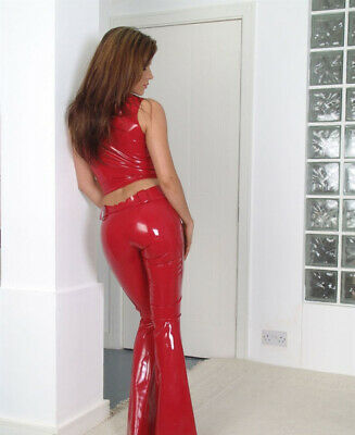Latex Rubber Auzug Vest&Pants Ärmellos Gummi Tight Catsuit Sexy Polished Uniform