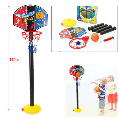 Adjustable 110cm Kids Basketball Back Board Stand & Hoop Set Children Gift UK