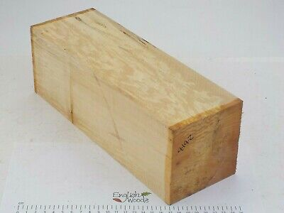 English Spalted Lime woodturning or wood carving blank. 102 x 102 x 300mm. 4142A
