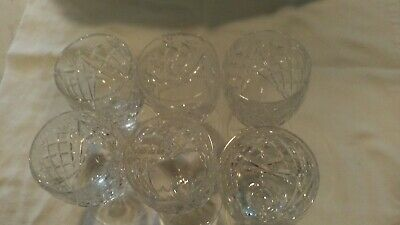 Set Of 6  Waterford Crystal Donegal Design 4 3/4 Claret Glasses