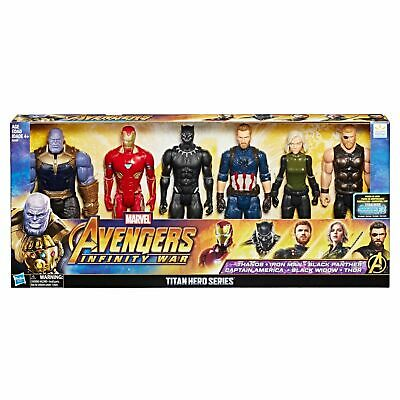 🔥Marvel Avengers Infinity War Titan Hero Assembled Collection Figures 6 Pack