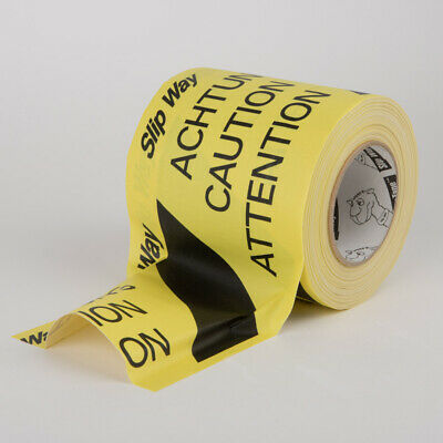 30m x 150mm Cable Cover Tape (Slipway) - Yellow/Black