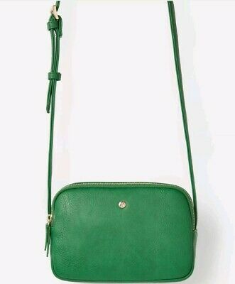 Joules Womens Farley Cross Body PU Bag in GREEN One Size BNWT