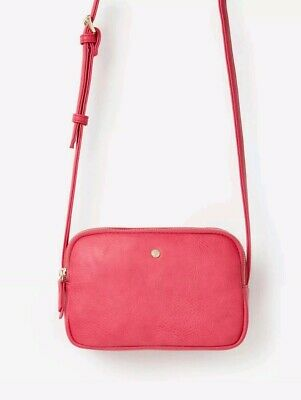 Joules Womens Farley Cross Body PU Bag in PINK One Size BNWT