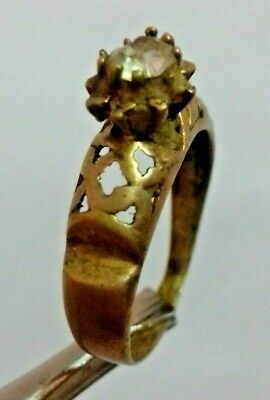 Ancient Rare Extremely Ring Bronze Legionary Roman With Stone  Artifact