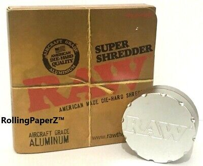 """RAW Papers Super Shredder/Grinder - Aircraft Aluminum 2 Piece American Made 2"""""""