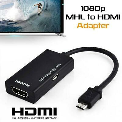 MHL Type C & Micro USB Male to HDMI Female Adapter Cable for Cellphone XMAS