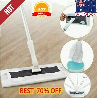 Static Floor Duster Cleaner Mop Super Wood Tile Laminate Fit Wet or Dry Wipes