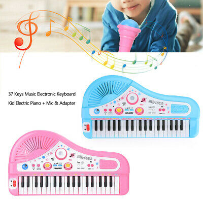 Music Kid Electric Piano + Mic & Adapter 37 Keys Electronic Keyboard GB