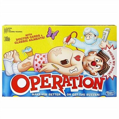 Classic Operation Family Board Game Fun For Kids Childrens Xmas Gift Toy Hot 1PC