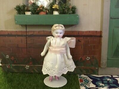 "Antique Bisque 4"" S&H or ABG Early White with Pink Luster Boots Doll"