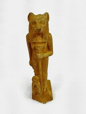 Sekhmet Ancient Egyptian Rare Faience Amulet Egypt Antique statue Goddess War
