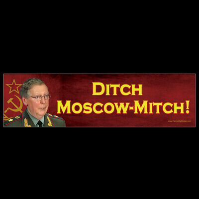 Ditch Moscow Mitch BUMPER STICKER or MAGNET magnetic decal McConnell McConnel