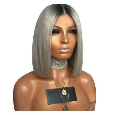 New UK Ladies Womens Real Natural Short Straight Hair Wigs Bob Style Cosplay Wig