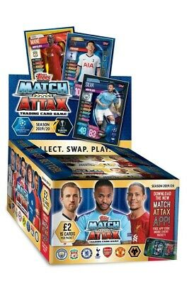 Topps Match Attax 2019/20 Full Box 24 Packets per box RRP £2 each packet NEW