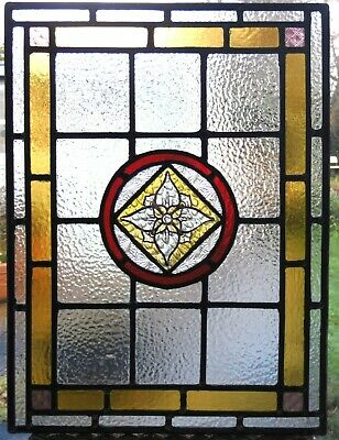 Recreated Stained Glass Panel Original - Hand Painted Centrepiece - Ref Sg416