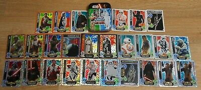 Topps Star Wars Force Attax 26 Trading Cards Game Tin Millenium Falcon Rare Foil