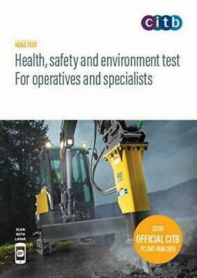 CSCS Card Test Book Health Safety And Environment Operatives GT100/19 CD