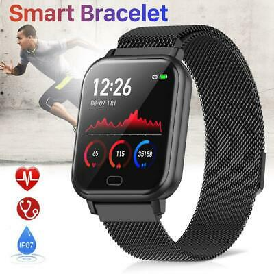 For iPhone HUAWEI Smart watch IP68 Heart Rate Blood pressure Fitness Trackers UK