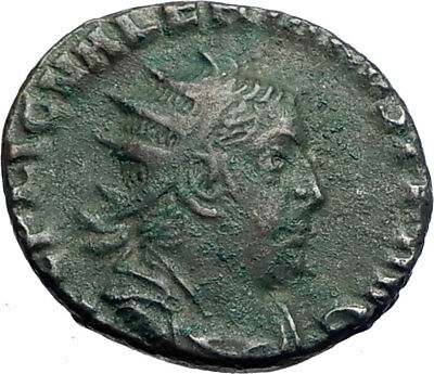 VALERIAN I father of Gallienus  257AD Rome Ancient Roman Coin SOL SUN i73491